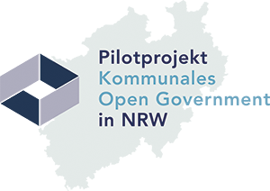 Pilotprojekt Kommunales Open Government in NRW Logo